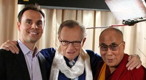 Brendon Burchard with Larry King and Dalai Lama